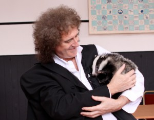 Brian May with a Badger