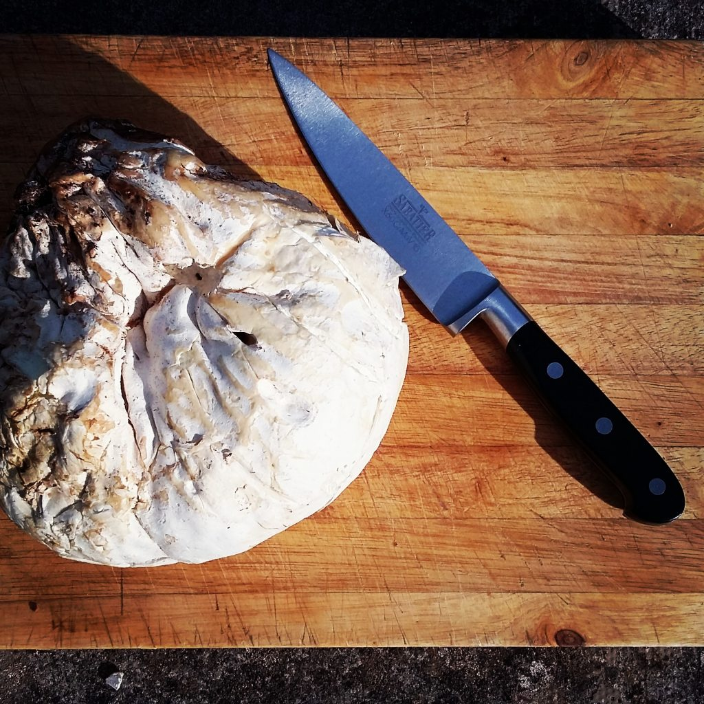 A magnificent puffball, the star of Kieran's sophisticated burger!