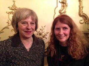 Theresa May with Alison Jane at The Journalist Charity Gala, January 2016