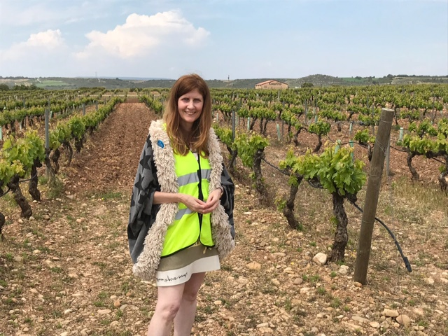 Journalist Alison Jane Reid Reporting on Sustainable Wine at Campo Viejo in Rioja.