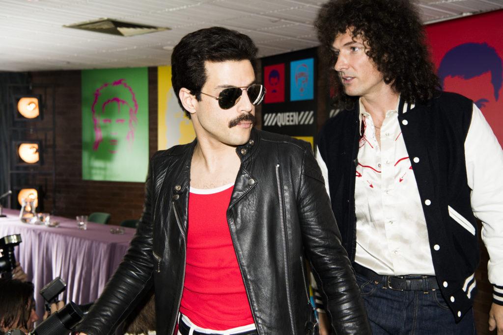 Rami Malek (Freddie Mercury) and Gwilym Lee (Brian May star in Twentieth Century Fox