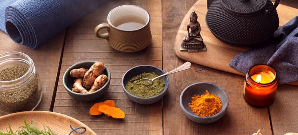 Organic Turmeric Root and Matcha Green Tea