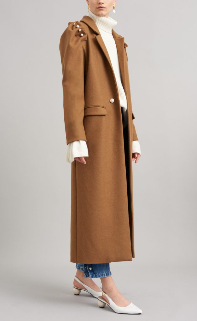 Recycled Wool Mother of Pearl Lester coat