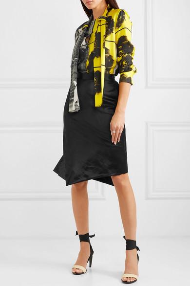 Vivienne Westwood Heritage Polina Asymmetric Satin Skirt