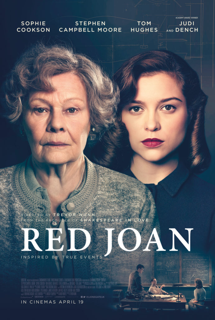 Red Joan Movie Poster Starring Judi Dench and Sophie Cookson