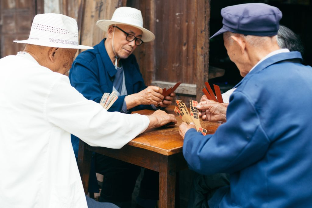 Chinese Men Playing Cards, Picture by Joey Huang