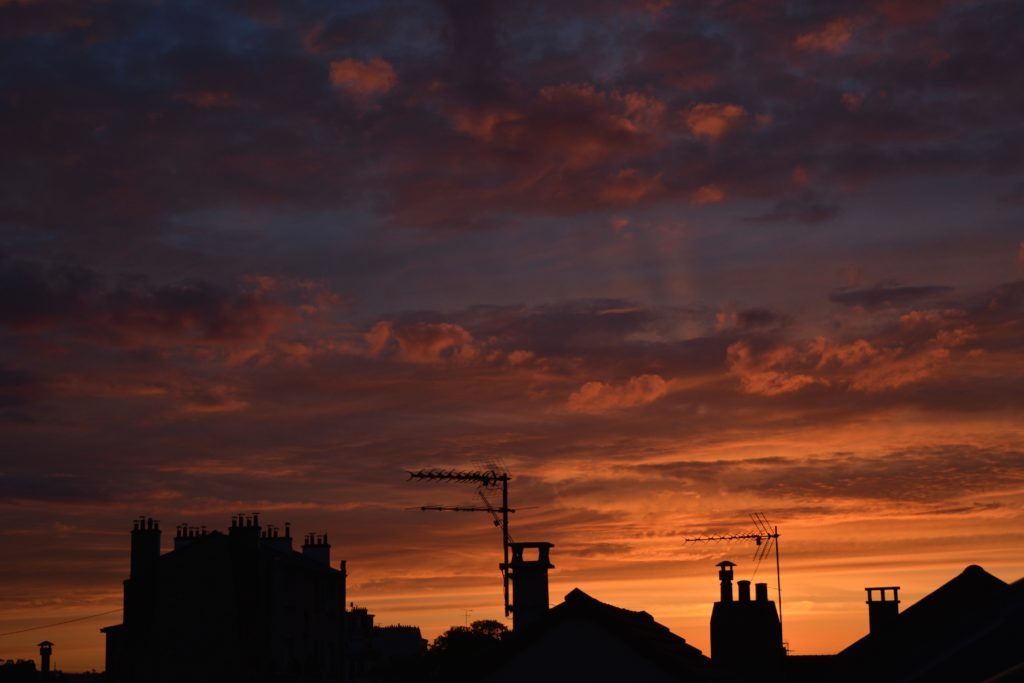 Rooftops at sunset. Picture by Clara Gonnord