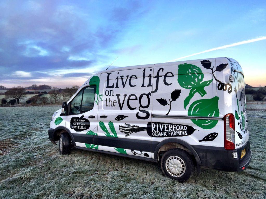 The Riverford Organic Veg Delivery Van