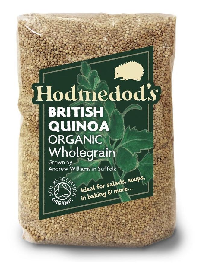A bag of Hodmedod's Organic Wholegrain British Quinoa.