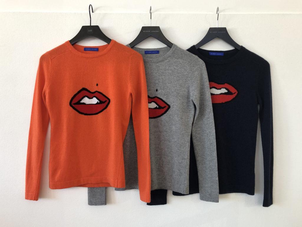 Gillian Anderson Lips Sweater