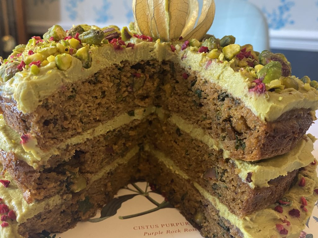 Organic Pistachio and Lime Cake
