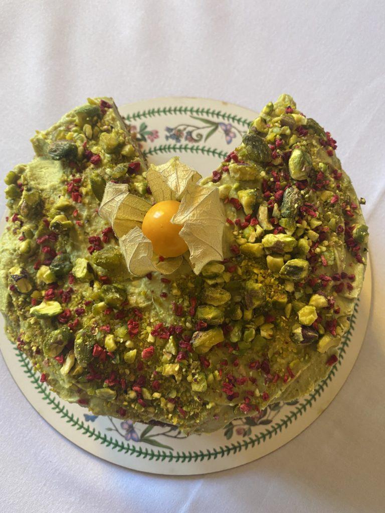 Organic Pistachio & Lime Cake